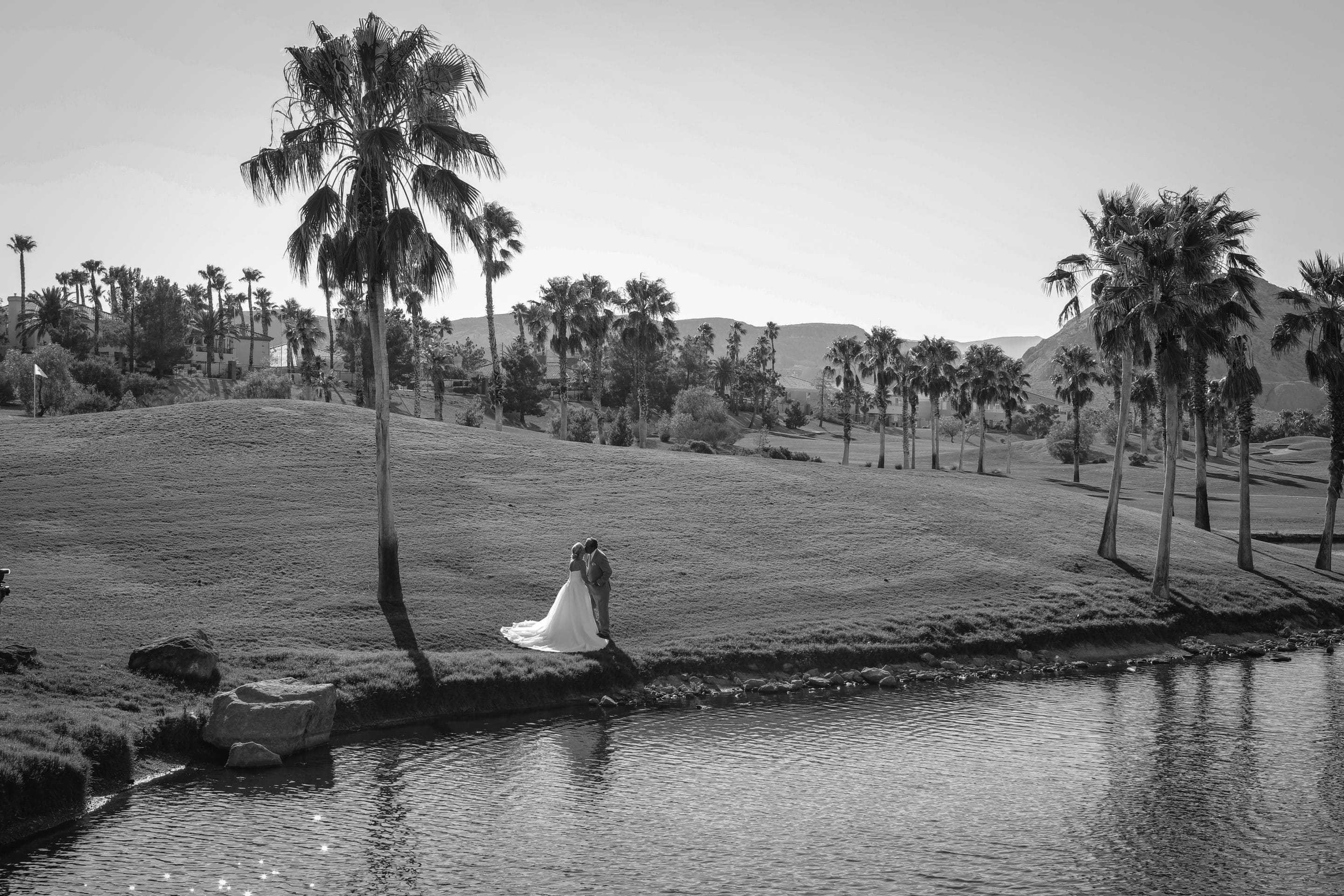 Couple marrying on Las Vegas golf course