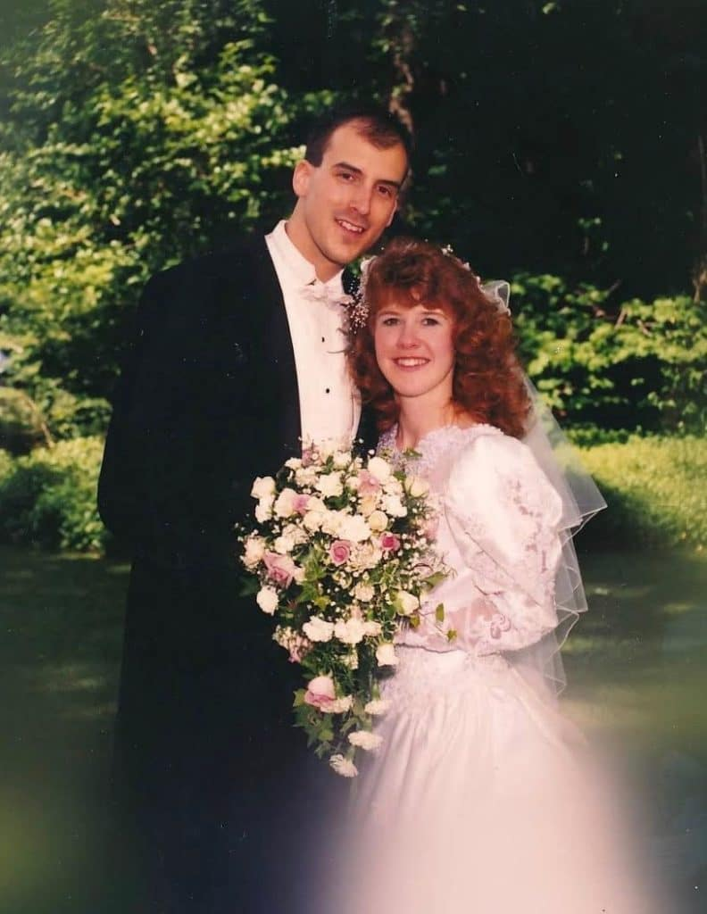 A couple writing about their 30 years of marriage